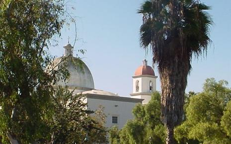 View of the Mission from the school